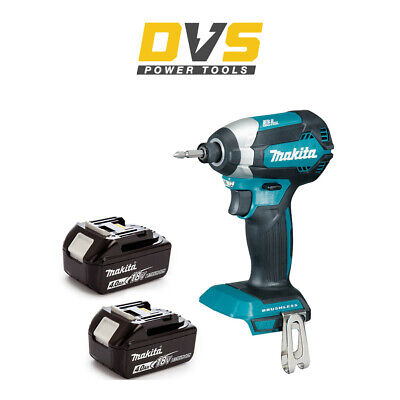MAKITA DTD153Z LXT 18V LI-ION BRUSHLESS CORDLESS IMPACT DRIVER  2x 4Ah Batteries