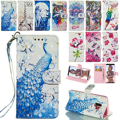 For Samsung A5 2017 S9 Plus S8 S7 Note 9 Case Magnetic Leather Wallet Flip Cover