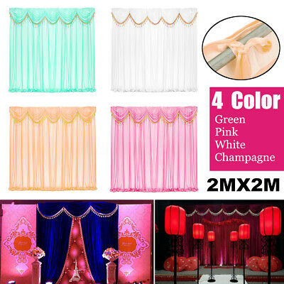 Removable Wedding Party Backdrop Curtain Background Decor Draping Swags Decor