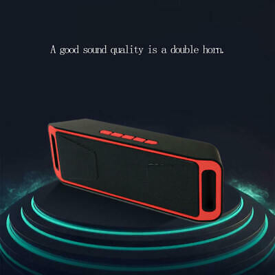 SC208 Portable Wireless Bluetooth Speaker Stereo Subwoofer Support FM TF  BRP
