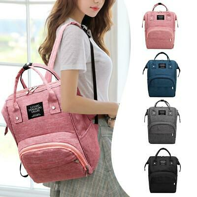 Girl Solid Color Mommy Travel Backpacks Large Maternity Nappy Top-handle Bags