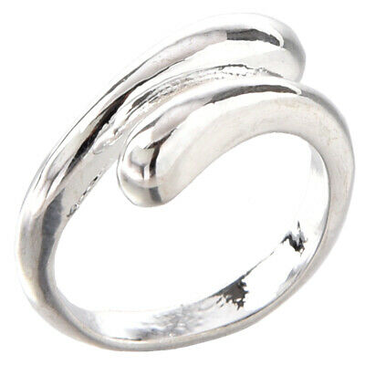 20X(Beauty and simplicity silver ring adjustable size adjustable unisex nov 7G9)