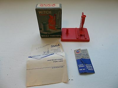 Witch Automatic Needle Threader w/Box & Instructions USA