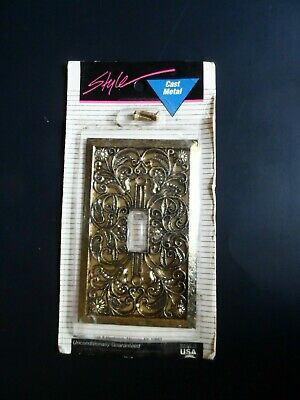 Light Switch Plate - CAST Metal - Fancy & Vintage Design - Decorative NEW NIP