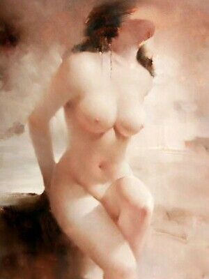 Handpainted Nude Girl Oil Painting On Canvas Modern art for home decor - N101