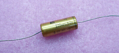 1 PC. ROE (Roederstein) high end audio axial electrolytic capacitor 220uf/63V