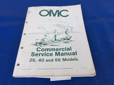 JOHNSON OUTBOARD SERVICE Manual 40hp 1968 JM 6808
