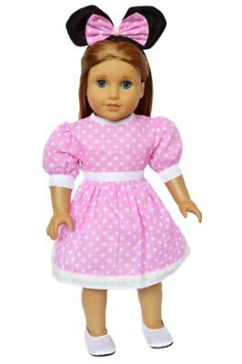 Pink Mouse Dress for American Girl Dolls 18 Inch Doll Clothes