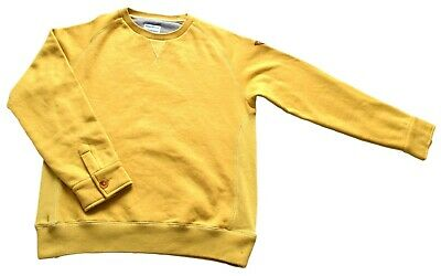 "Mens Vintage Supremebeing Pale Yellow Sweatshirt Large 42"" Chest"