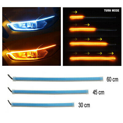 LED Sequential Strip Turn Signal Switchback DRL Indicator Daytime Running Lights