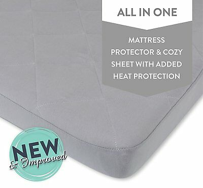 Waterproof Cotton Quilted Pack n Play Mattress Cover | Mini Crib Mattress...
