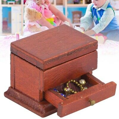 1:12 Vintage Miniature Jewelry Storage Box Doll House Accessory Room Kids Toys