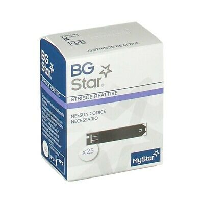 BGSTAR Measurement Blood Glucose Test Strips 25 Pieces