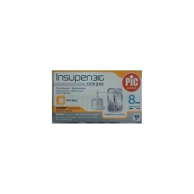PIC Needle G 31 Insupen 8 Mm 100 Pieces 22990
