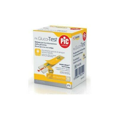 PIC Glucotest glycaemia test strip 25 strips