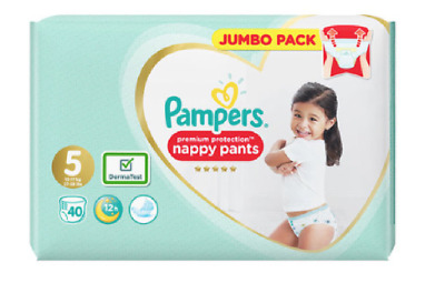 Pampers Premium Pants Size 5 Nappy (12-17kg) Choose QTY 40 80 120 160 Pack