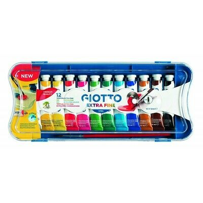 GIOTTO extra fine poster paint tubes pack of 12 - assorted colours 12ml