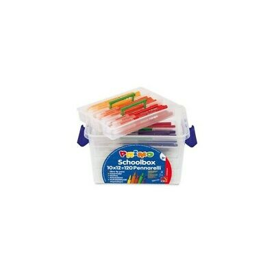PRIMO MOROCOLOR school box set 120 assorted colours markers