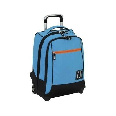 YUB school backpack with trolley turquoise