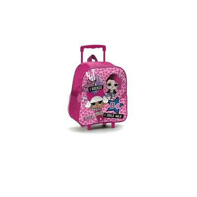 LOL SURPRISE children's backpack with trolley pink