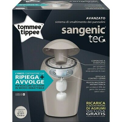 TOMMEE TIPPEE Sangenic Tec Nappy Disposal System Grey + 1 Refill