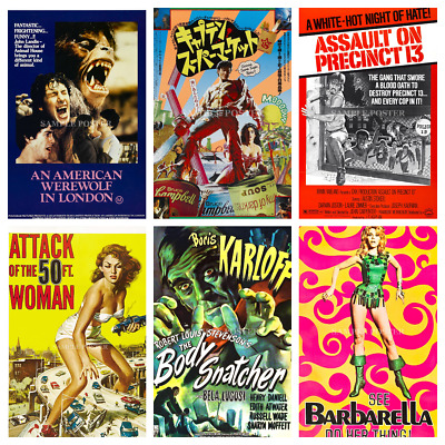 Horror Film Posters Vol.1 Vintage 50s 60s 70s 80s 90s Wall Decor Pub Club Room