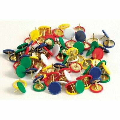 ALEVAR Colored Drawing Pins 10 packs of 50 Pins