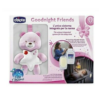 CHICCO Goodnight Friends - Baby Monitor and Peluche girl