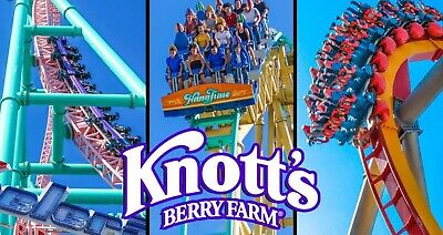 Lot of 4 single day tickets to Knotts Berry Farm amusement park California
