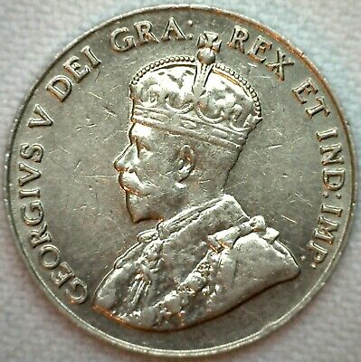 1926 Canada Nickel 5c Canadian Coin KM #29 AU Almost UNC Five Cents Near 6 K29