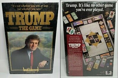 President Donald Trump The Game 1989 89 Board Game Milton Bradley Vtg New Sealed