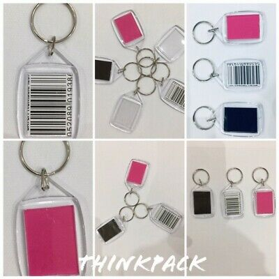 Keyring Acrylic Photo Keychain Personalise Plastic Clear Blank 35x24mm Picture