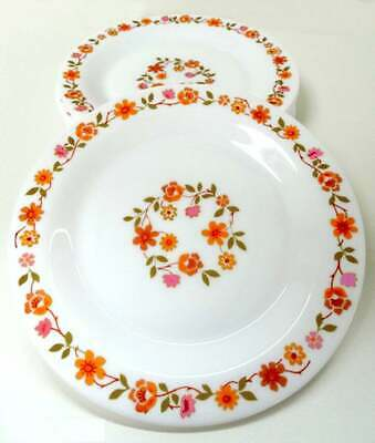 """4x Vintage French Arcopal France Scania 7.5"""" Side Plates Heat Resistant Pyrex"""