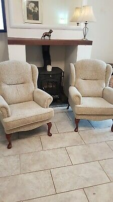 Pair of Sherborne Melvern Fire Side Chairs Immaculate condition