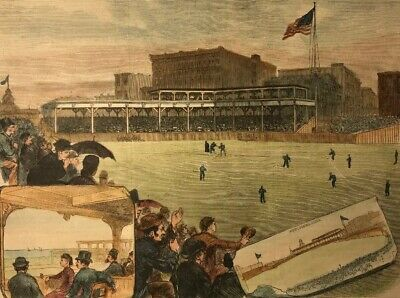 1883 Print Of The New Baseball Park At Chicago Illinois White Stockings Cubs