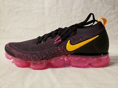 Nike Air Vapormax Flyknit 2 II Pink Blast Black Laser Orange Mens Running Shoe
