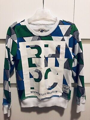 Beverley Hill Polo Club Boys Sweater Size 3-4 Years White Green Blue