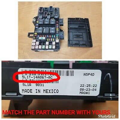 03-06 lincoln navigator ford expedition under dash fuse relay box  5l1t-14a067-