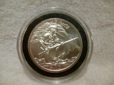 Two Ounce Silver High Relief Sons Of Liberty Minutemen .999 Fine Silver Coin f