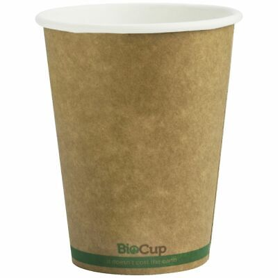 BioPak Single-wall Coffee Cups 12oz Kraft 1000 Box