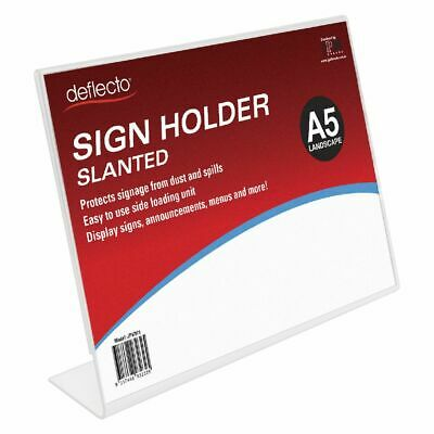 Bulk Buy - 3 x deflecto Slanted A5 Sign Holder Landscape