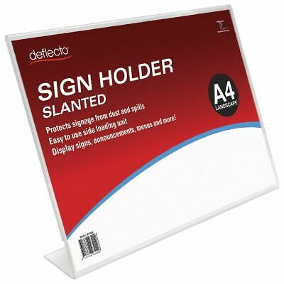 Bulk Buy - 3 x deflecto Slanted A4 Sign Holder Landscape
