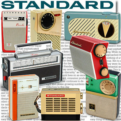STANDARD radios Japan book vintage antique transistor, tube, micronic ruby micro