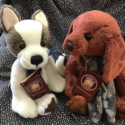 Charlie Bears Mud Magnet And Duffle Pups Sold As Pair Bnwt Bargain