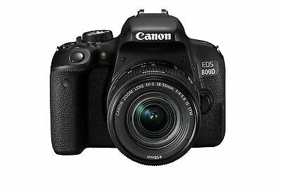 CANON EOS 800D DSLR Camera with EF-S 18-55 mm f/4-5.6 IS STM Lens FREE NEXT DAY