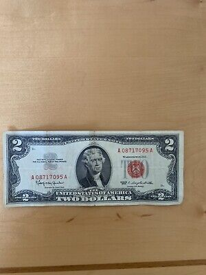 1963-A $2 - Two Dollar Bill Red Seal US Note Circulated