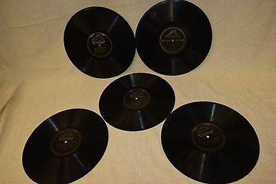 Lot 16:  Antique Victor 10-inch Black Label Double-sided Records phonograph 78s