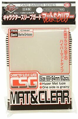 KMC Character Guards Card Game Mini Over Sleeves Matte Clear 60pcs Japan New