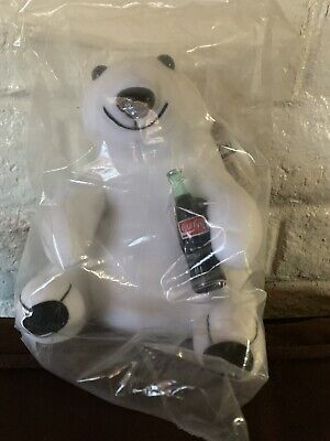 "7"" COCA COLA Plush Bear in plastic 1993"