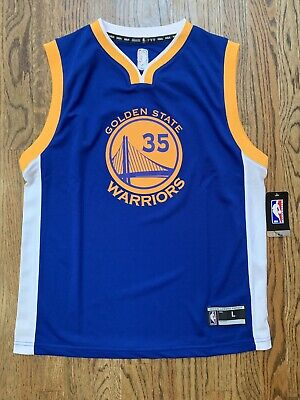 b39ae2b3 New NWT Kevin Durant Golden State Warriors Jersey Youth Boys Size L Large  14/16